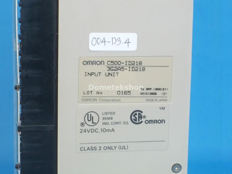 Lot of 2 Omron Input Unit C500-ID218 3G2A5-ID218 24 VDC 10mA Used