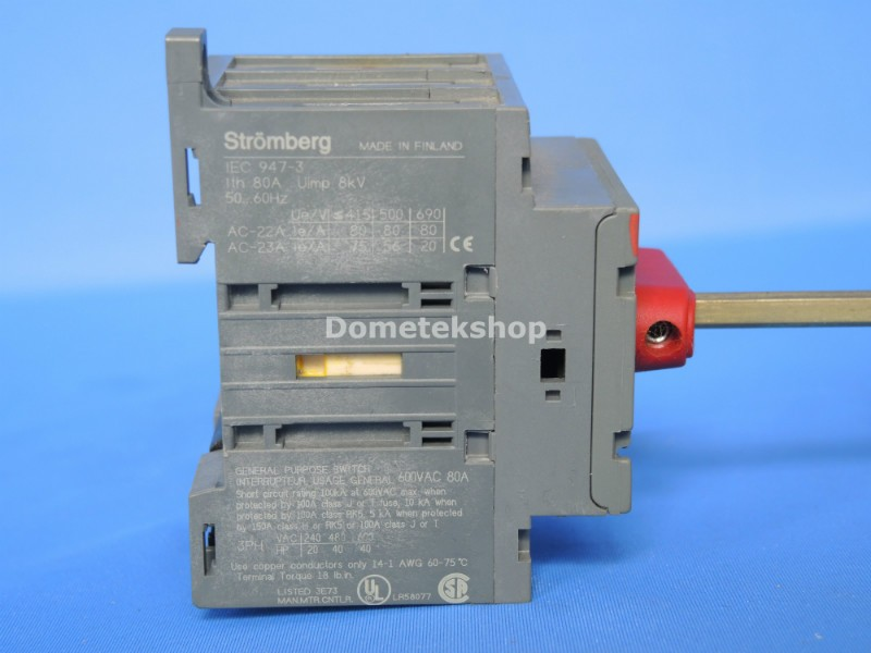 Stromberg Rotary Isolater Switch