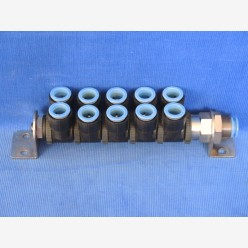 SMC air manifold 12 mm, 10 outputs